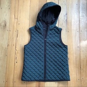 Lafayette 148 New York Quilted Hoodie Vest